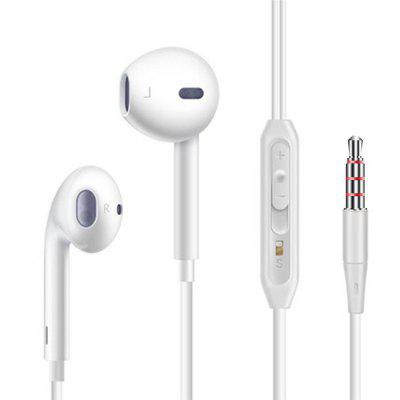 V6 Universal  In-ear Earphones Line Control with Mic for Xiaomi