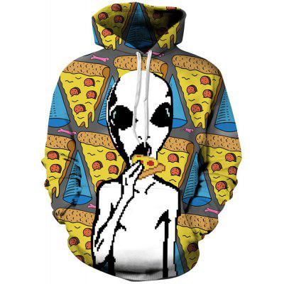 Autumn and Winter Digital Printing Alien Men's Long-Sleeved Sweate