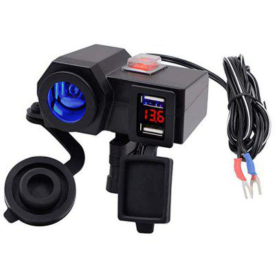 Motorcycle Car Navigation Mobile Phone USB Charger Waterproof Cigarette Lighter 12V