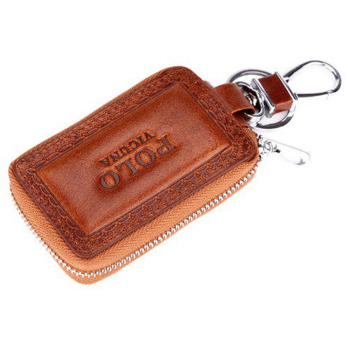 VICUNAPOLO Cowhide Leather Car Key Bag Case Male Portable