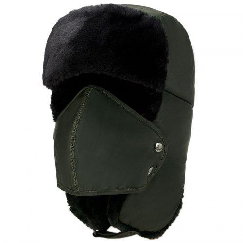 Winter Men Cap with Mask Outdoor Warm Velvet Thickening Cycling Windproof  Cap -  20.54 Free Shipping 97325cd36616