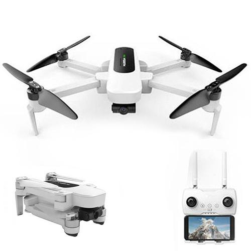 Hubsan H117S Zino 5G WiFi RC Drone UHD 4K Camera 3-Axis Gimbal Quadcopter - White US Plug 1 Battery without Storage Bag