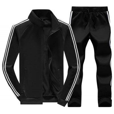 6888 - A446 - 447 Autumn and Winter New Men's Three Bars  Sportswear Casual Clothing