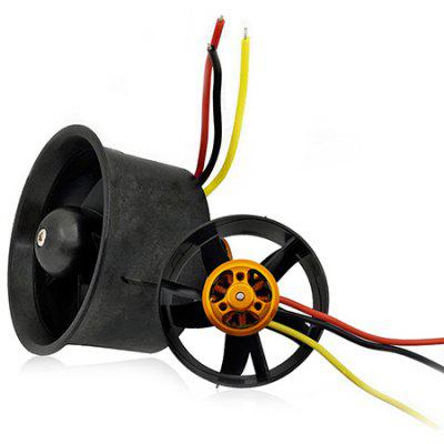 QX-MOTOR 64MM EDF QF2611-4500kv Ducted Motor 3S High Speed Outer Rotor Brushless Motor