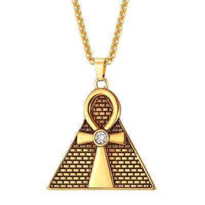 GP2571 Stainless Steel Triangle Egyptian Pendant Necklace