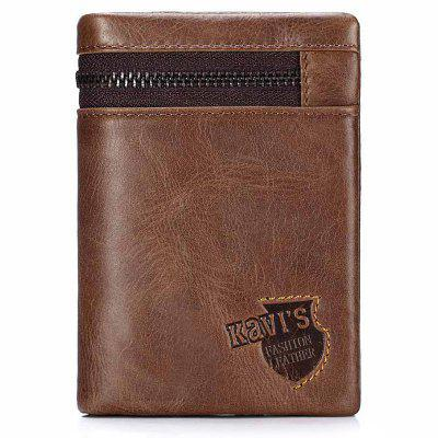 KAVIS Men Youth Style Short Wallet Coin Pocket