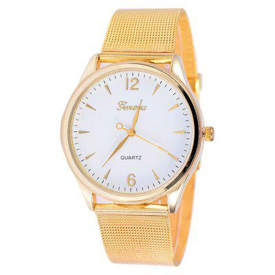 XR1433 Trendy Gold Mesh With Simple Ultra-thin Alloy Quartz Watch