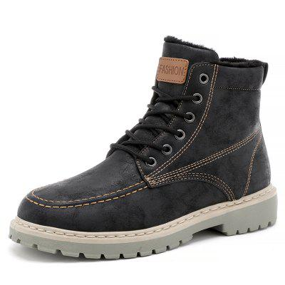 SYXZ 0126 Men Shoe Tooling Boots Military Boots Leather