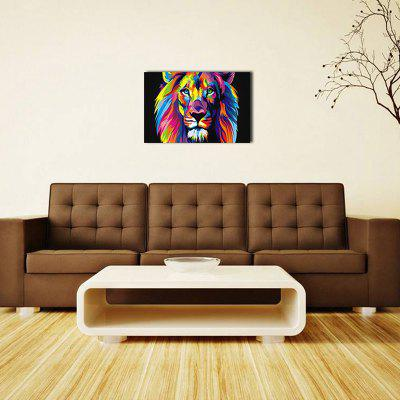 8 - T2764 Personalized Colorful Animal Lion Spraying Oil Painting for Home Background Decoration