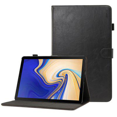 ENKAY Advanced PU Crazy Horse Pattern + plastikowe dno z gniazdem na karty Funkcja wspornika Smart Sleeping Case do Samsung Galaxy Tab S4 / T830 / T835