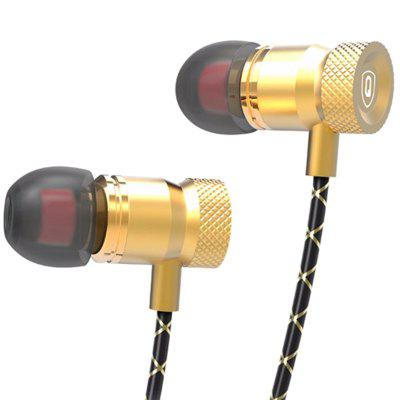 QKZ X5 Auricolari In-ear Metallo HIFI Mobile Phone Tri-band di Musica Arti con Microfono
