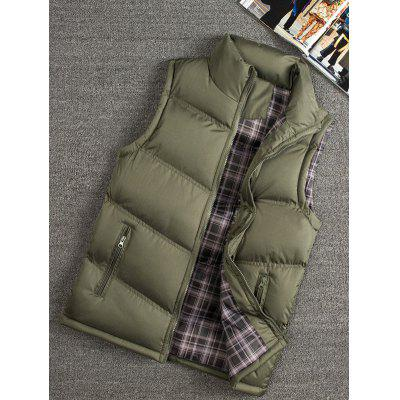 Men's Large Size Collar Thick Vest Middle And Old Aged Casual Warm Men's Coat Jacket