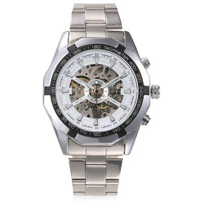 WINNER Men Luxury Skull Classic Sport Montre mécanique automatique