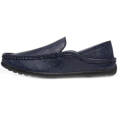 SYXZ 0135 Mens Leather Tide Lazy Shoes