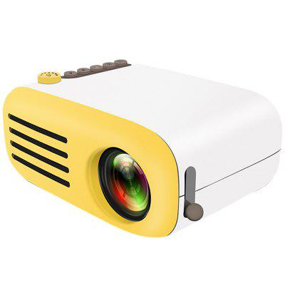 AAO YG - 200 Mini Portable LCD Video Projector Support HDMI / SD / USB Port - WHITE EU PLUG