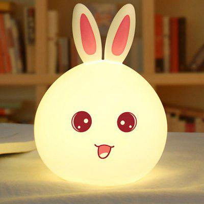 Cute Cartoon Rabbit Style Silicone Atmosphere Night Lamp