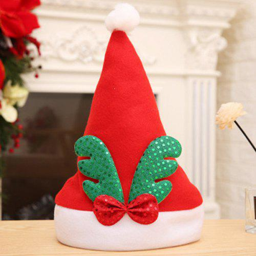 Christmas Hats For Kids.Christmas Hat Antlers Sequins Plush Hats Kids Hats Christmas Decoration Hats Holiday Supplies