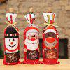 Christmas Decorations Red Wine Cover Wine Bottle Wine Bottle Set Tableware Home - RED