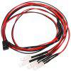 LED Light for 1 / 10 1 / 8 Traxxas HSP Redcat RC4WD Tamiya Axial SCX10 D90 HPI RC Car 4pcs - CHESTNUT RED