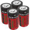 16340 Rechargeable Battery 3.7V 700mAH RCR123A Lithium Ion Camera Battery 4pcs - RED