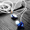 QKZ CK6 Mobile Phone Line Control Headset Magnetic Adsorption Design Hanging Ear Bass Headset - BLUE