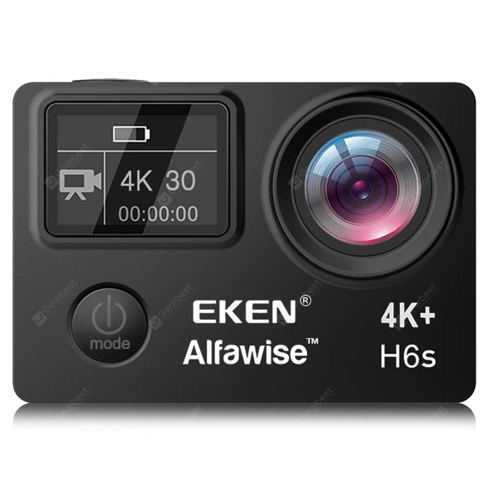Alfawise EKEN H6S 2 inch 4K HD WiFi Action Camera Waterproof Sports DV with EIS Anti-shake - BLACK