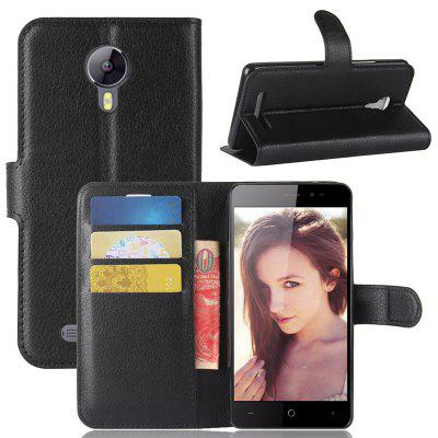 Naxtop Lychee Mobile Wallet Flip Cover Body Protection Phone Case for Leagoo Z5
