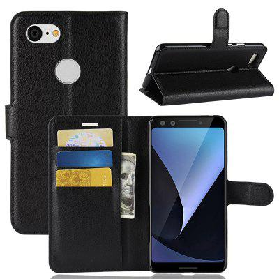 Naxtop Lychee Mobile Wallet Flip Cover Body Protection Phone Case for Google Pixel 3