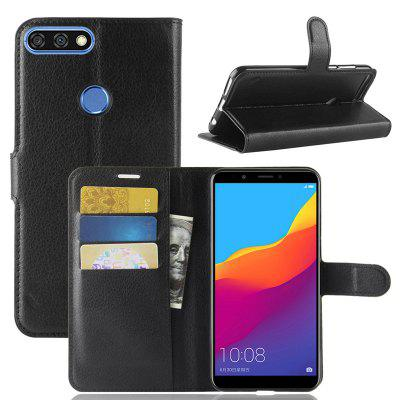 Naxtop Lychee Mobile Wallet Flip Phone Case for HUAWEI Y7 Prime / Nova 2 Lite