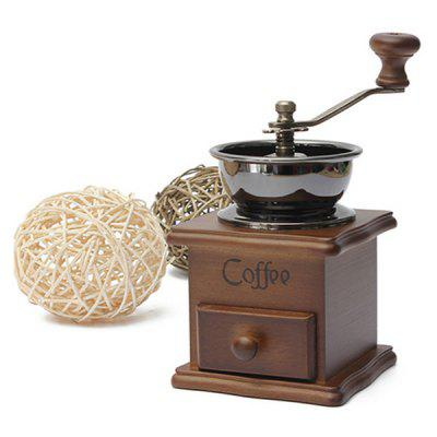 Home Retro Small Wooden Manual Coffee Grinder