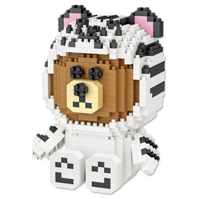 Loz Small Particle Building Blocks White Tiger Bear Children Educational Toys