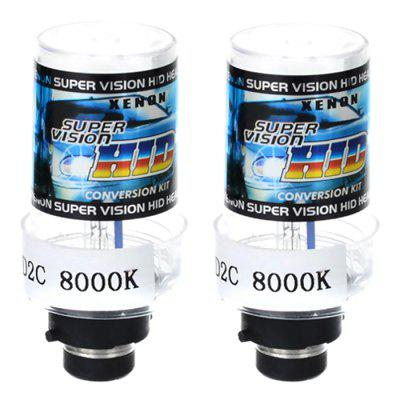 D2C 12V 35W 8000K Car HID Xenon Bulb - Cool White
