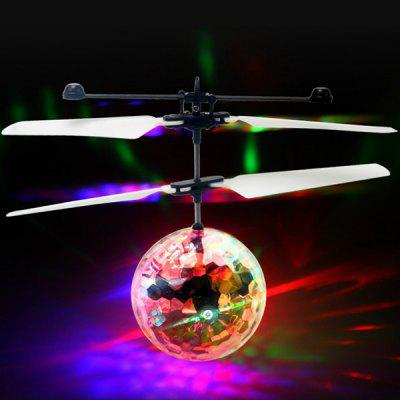 Best Selling Colorful Induction Crystal Ball Suspension Lighting Electric Toy