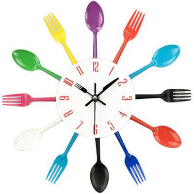 Creative Stainless Steel Knife Fork Wall Clock