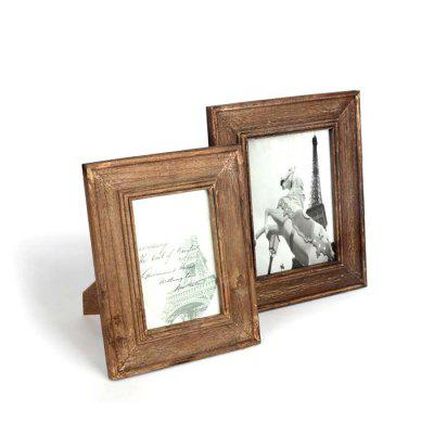 Trojan Solid Wood Photo Frame Set Creative European Photo Studio 6 Inch 7 Inch Picture Frame Wood Photo Frame