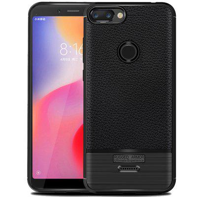 ASLING New Lychee Brushed Series Mobile Phone Soft Case For Xiaomi Redmi 6