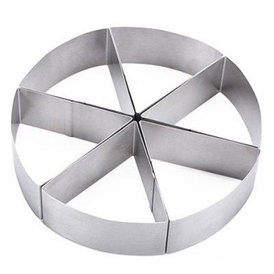 6-part Circular Mousse Ring Cake Mold Baking Tool Bread Pizza Stainless Steel Cake Mold