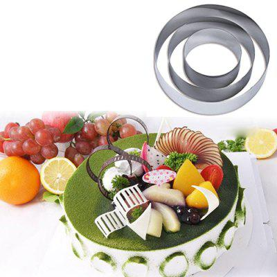 Baking Tools DIY Round 430 Stainless Steel Cake Mold Cookie Mould 3pcs