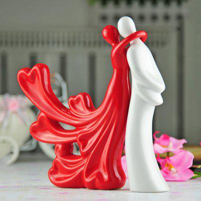 Ceramic Modern Couple Decoration Creative Love Birthday Gift Wedding Gift Home Decoration Crafts