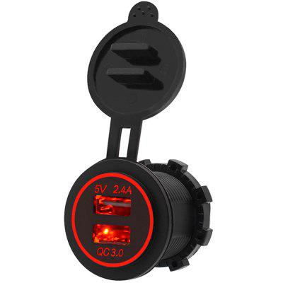 Motorcycle RV 3.0 Dual USB Car Phone Charger
