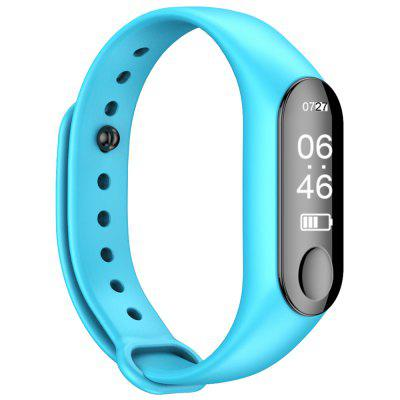 M3 0.87 inch Sports Smart Bracelet Bluetooth 4.0 IP67 Waterproof Call / Message Reminder Heart Rate Monitor Blood Pressure Functions