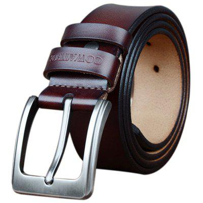 COWATHER Fashion Vintage Leather Designer High Quality Belts for Men