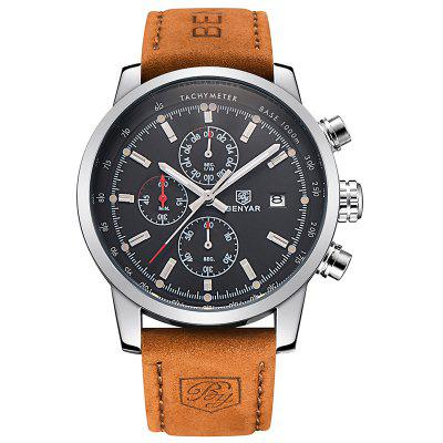 Refurbished BENYAR Fashion Chronograph Sport Mens Top Brand Luxury Quartz Watch