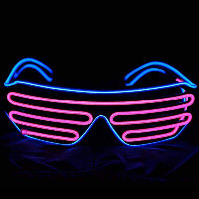 Two-color Voice-activated Illuminating Glasses Party Props