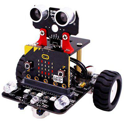 Gearbest Only $59.99 for Yahboom Smart Robot Car Kit for Kids BBC Programmable Toys - BLACK promotion