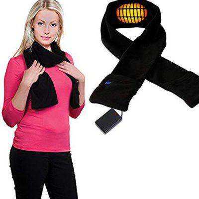 Rechargeable Adjustable Temperature Electric Heating Warm Scarf
