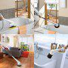 Large Long Handle Brush Bristles Brush Bath Floor Brush Multi-function Cleaning Machine Bathroom Tile Wash - WHITE