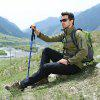 2SA7D42 Camel Outdoor Trekking Pole T-type 4 Section Telescopic Walking Stick Hiking Mountain - CRYSTAL CREAM