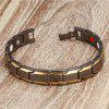 Fashion Charm Gold-plated Copper Men Health Bracelet - BLACK