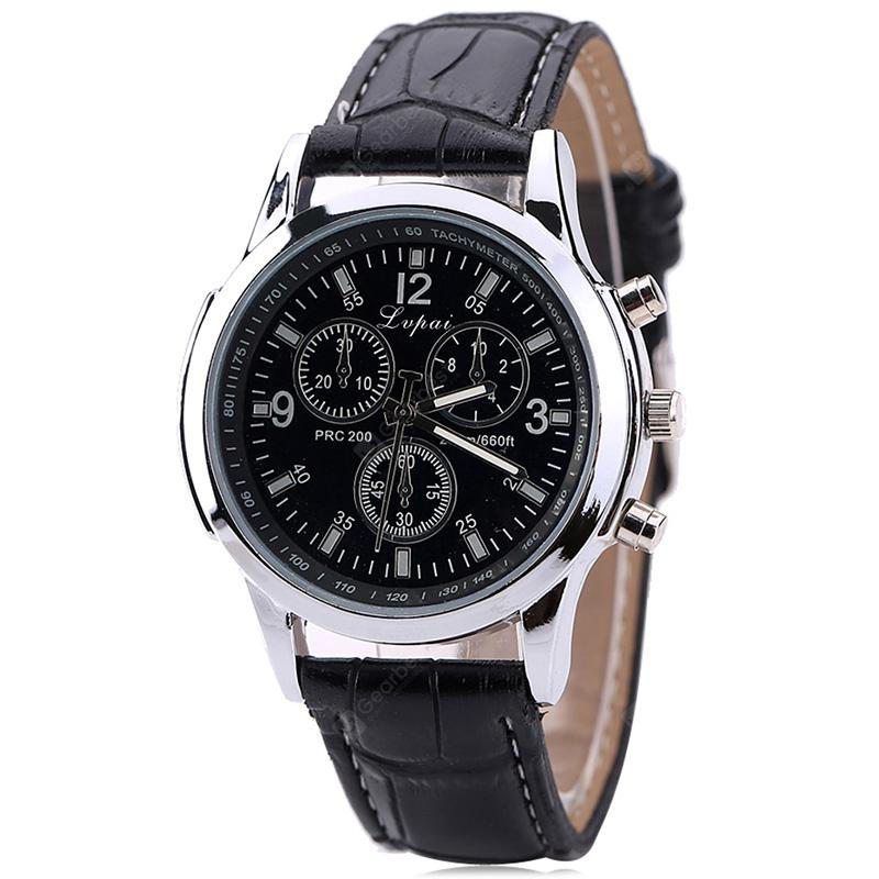 Gearbest Lvpai P647 Men Pattern PU Leather Fashion Watch